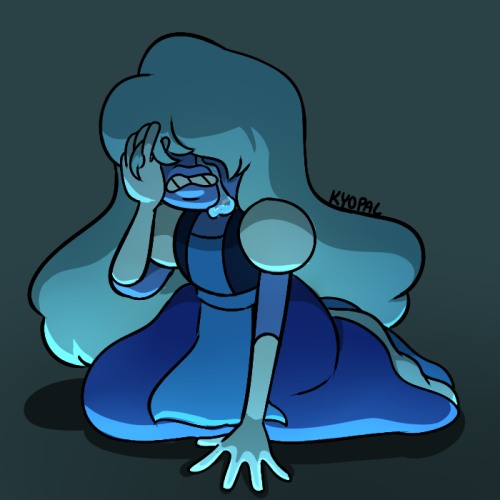 beeblader said: Could you draw a crying emotional Sapphire ? Can never get too much of Sapph Answer: its hard seeing a future where your wife could get shattered