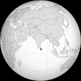 Localização  República Democrática Socialista do Sri Lanka