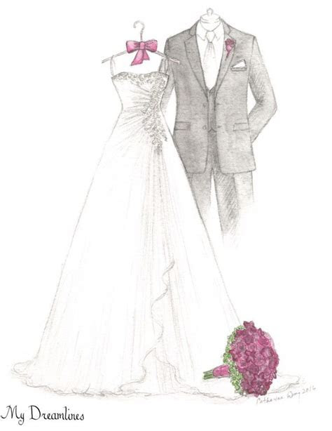 Pin by Wedding Dress Sketch   Dreamlines on A Wedding