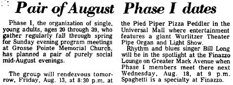 Phase I at the Pied Piper Pizza Peddlar
