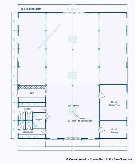Party Event Barn Plans     Design Floor Plan   Barn Design