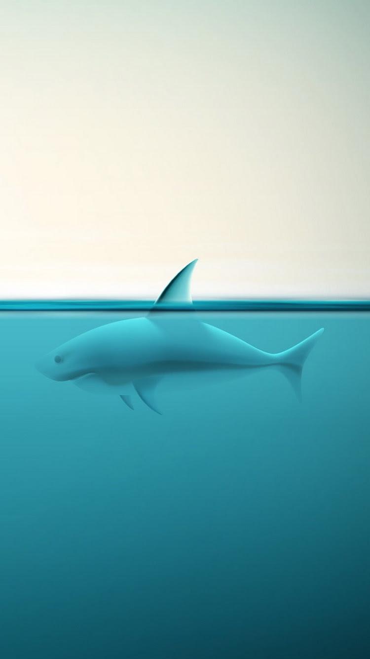 抽象的な海のサメiphone 6 Android动物壁紙 Iphoneチーズ