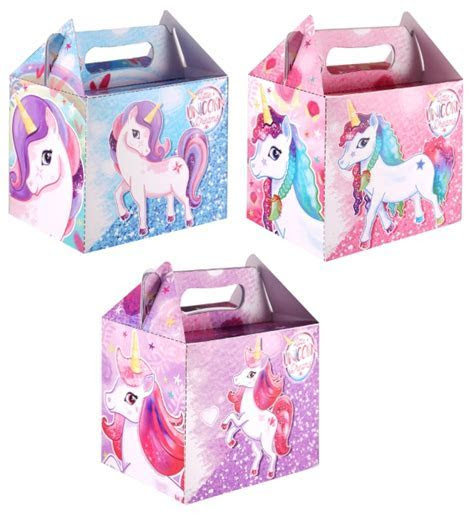Unicorn Card Lunch / Party Box   Favour Fairy