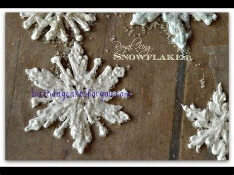 How To Make Beautiful Royal Icing Snowflakes   YouTube