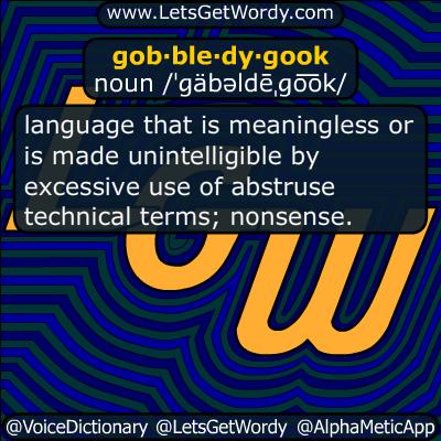 gobbledygook 11/20/2015 GFX Definition