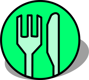 tourism map dining restaurant symbol