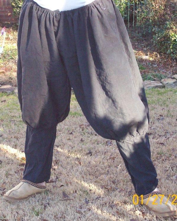 Linen pants - authentic medieval Renaissance clothes, linen mens pants, viking rus pants.