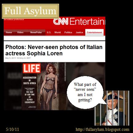 CNN: Never Seen Photos of Sophia Loren!