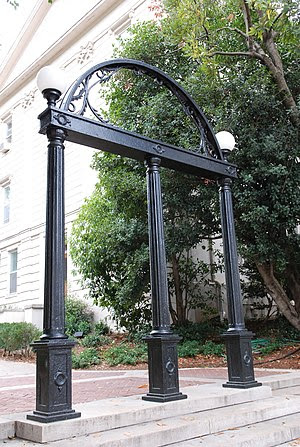 The Arch in Downtown Athens. The UGA Arch.