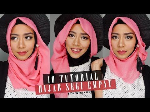 VIDEO : 10 tutorial hijab segi empat | 10 hijab style paris | inivindy - tutorial hijabbaru untuk pemanasannn.. yihaaaa.. ada request? komen ya ...