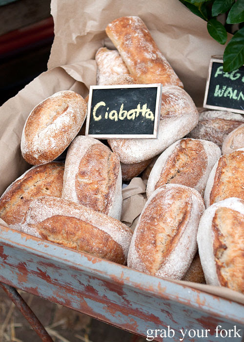 ciabatta bread at the grounds of alexandria markets