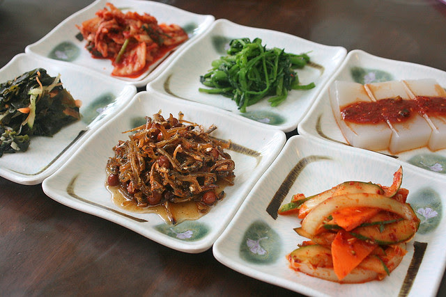 Banchan or side dishes
