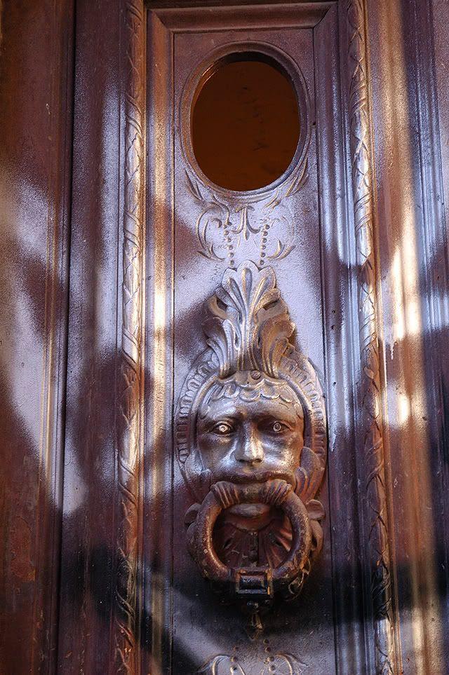 Vandalized Door Knocker or Modern Art [enlarge]