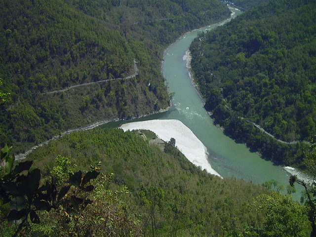 Aerial View of Teesta River