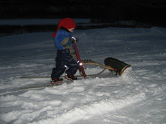 Snowplowing with kicksledge ;)