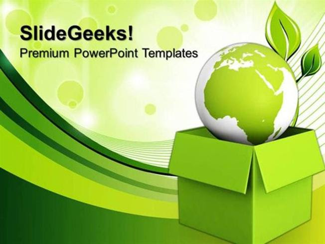 Business Green Planet Environment Shapes Ppt Template Powerpoint Template