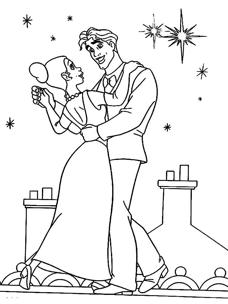 Dibujos Para Colorear La Princesa Y El Sapo