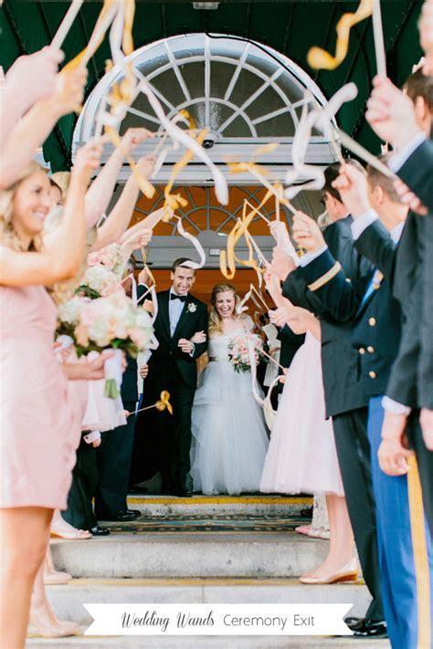 11 Creative & Fun Ceremony Exit Ideas   weddingsonline