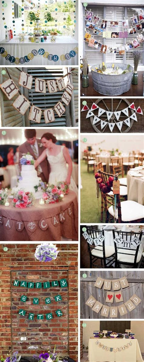 Finishing Touches: Creative Wedding Banners   vintage