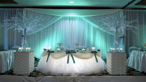 Room decorations for couples, sweetheart table at wedding