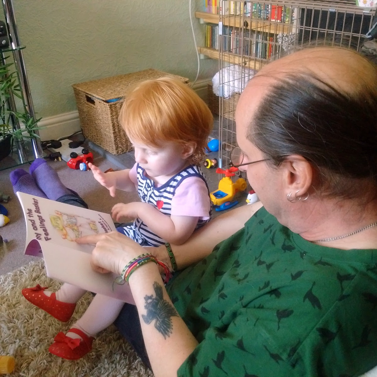 Bampy reading Marianna a story