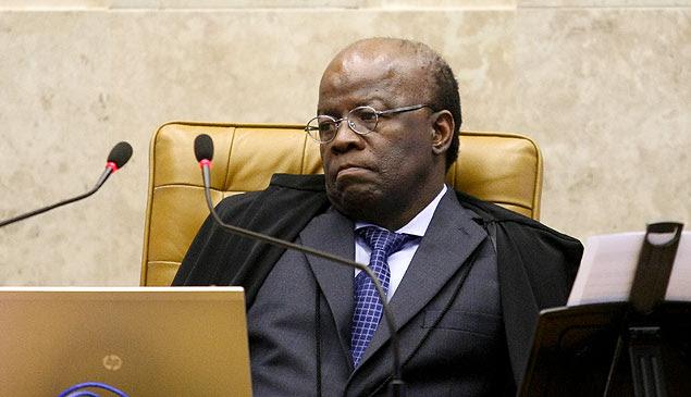 O presidente do STF Ministro Joaquim Barbosa