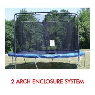 trampoline enclosure nets 14 ft frame size trampoline net for 2 arch enclosure fits. Black Bedroom Furniture Sets. Home Design Ideas