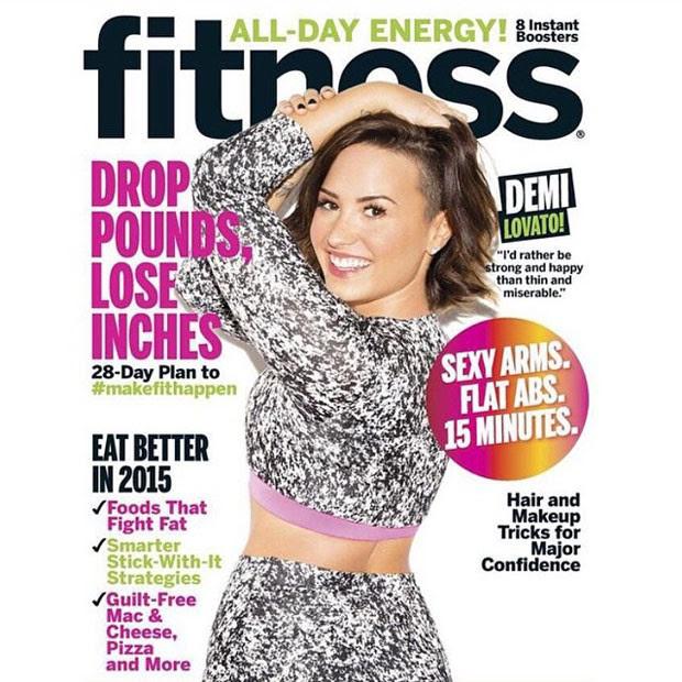 Demi na capa da revista Fitness (Foto: Instagram)