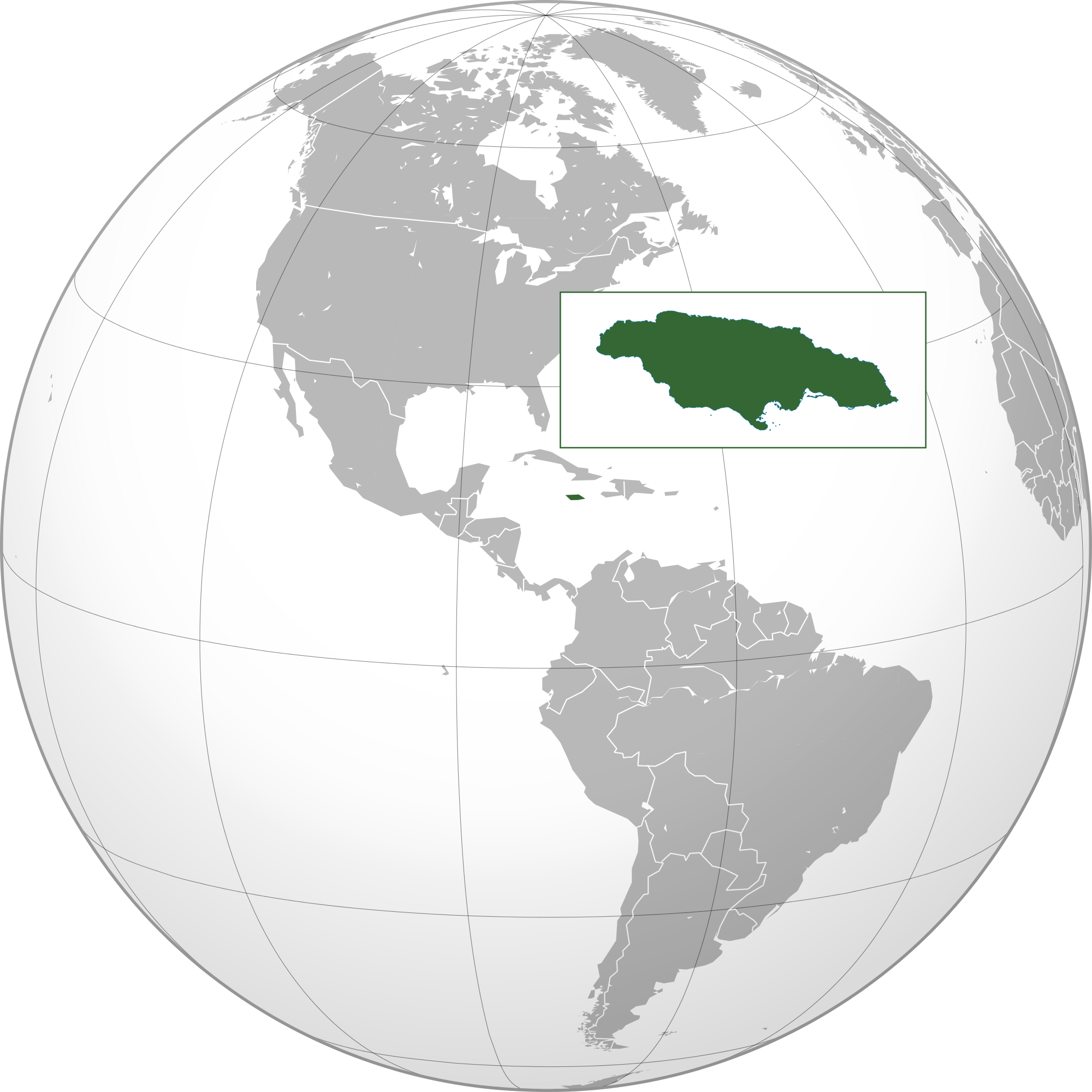 Location of the Jamaica in the World Map