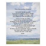 Serenity Prayer quote on landscape photo art Poster
