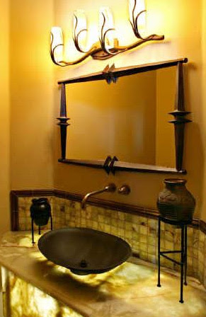 Bathroom Design Gallery on Boring Bathroom To A Colorful And Stimulating Bathroom By Adding A