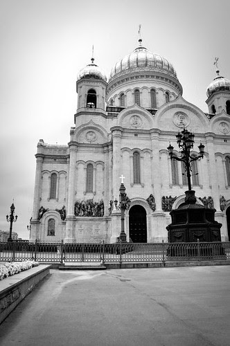 MoscowChurchReverseBW