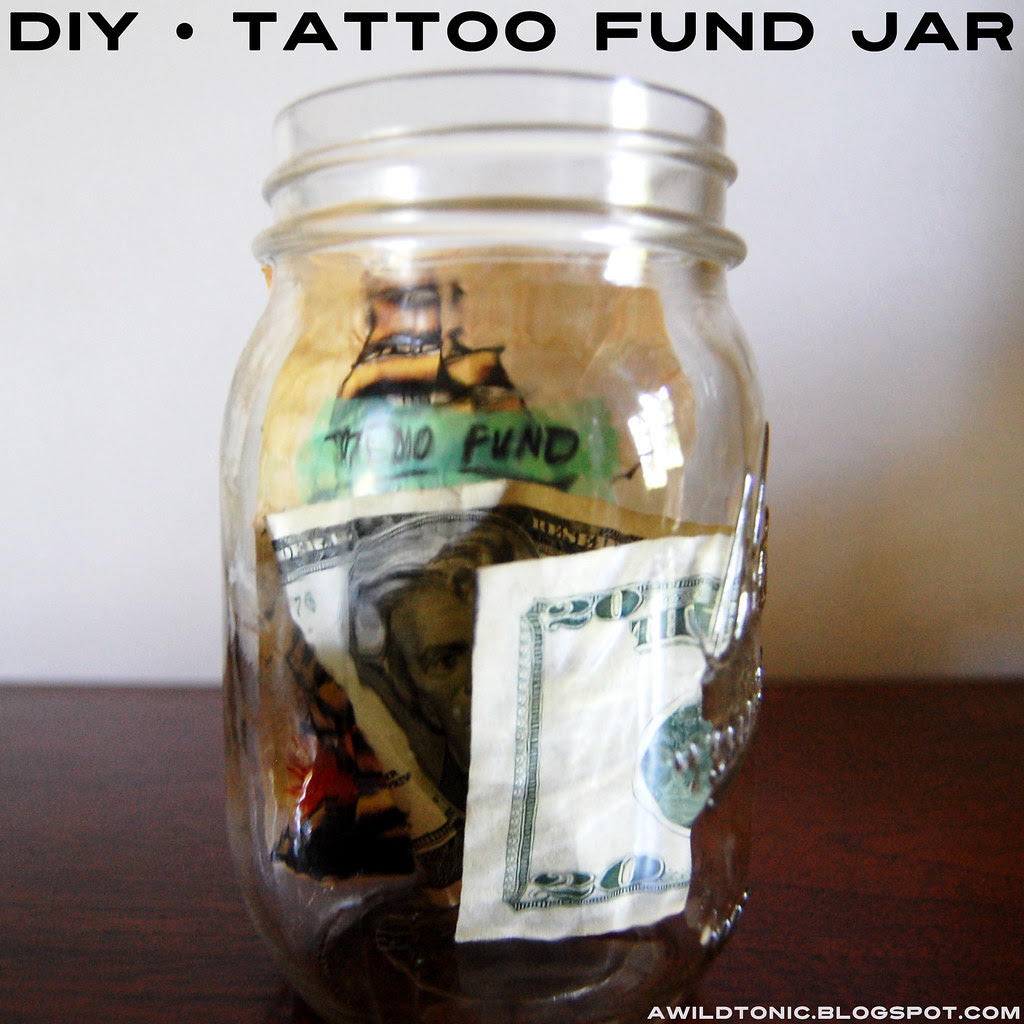 DIY • tattoo fund jar.
