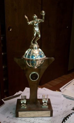 My 1991 Intramural Volleyball Championship Trophy