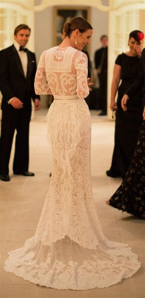 Wedding Dresses   Custom Made Givenchy Lace Wedding Dress