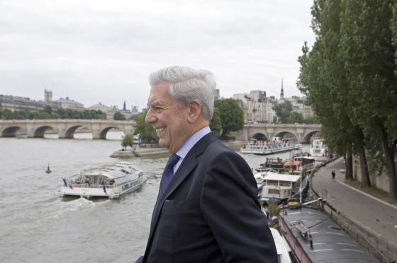 Mario Vargas Llosa en Paris.