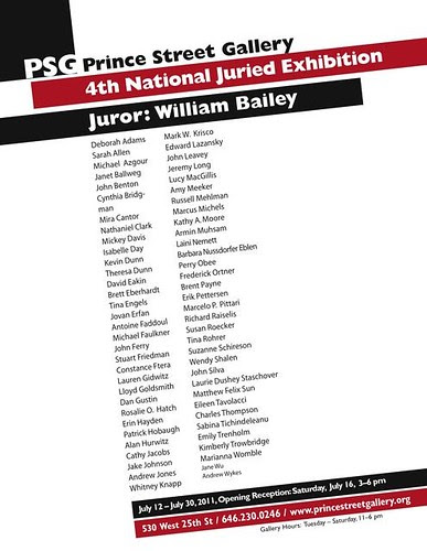 4th National Juried Exhibition - Prince Street Gallery Poster 1