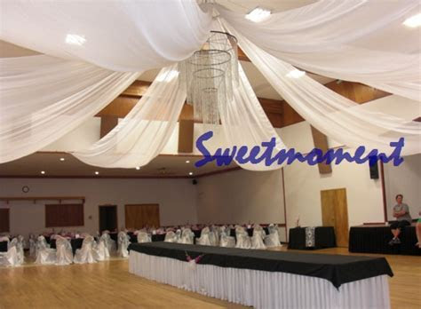 Luxury Wedding Roof Drape Fabric Decoration in Party DIY