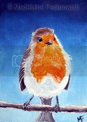 Evening Robin ACEO