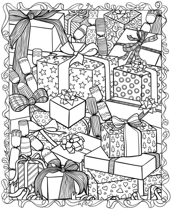 Christmas Coloring Pages Advanced - Coloring And Drawing