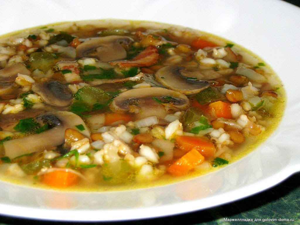 Грибной суп кухня, русская