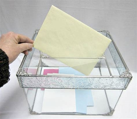 Stained Glass Wedding Card Box, Wedding Card Holder Box