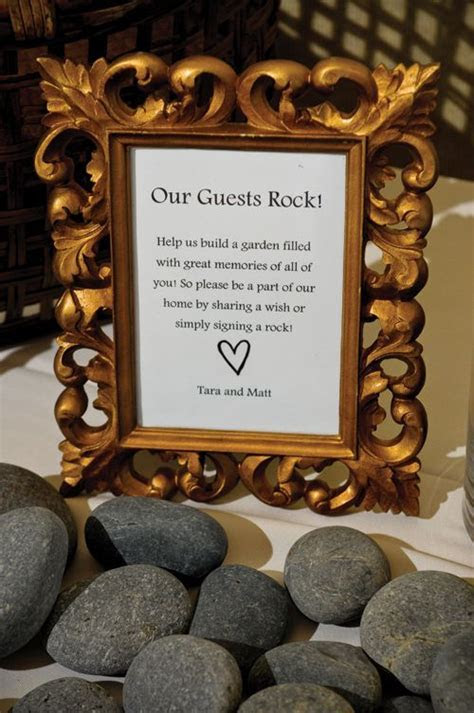 river rock guest book sign   Google Search   Tracy's