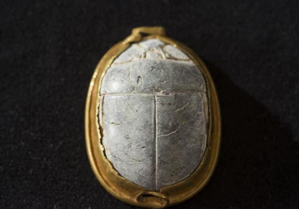 The reverse of the scarab seal found in Tel Dor, Israel.