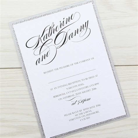 Oscar Evening Invitation   Pure Invitation Wedding Invites