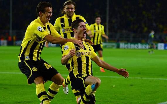 UEFA Champions League: Borussia Dortmund - Ajax Amsterdam, Robert Lewandowski, Ivan Perisic & Marcel Schmelzer