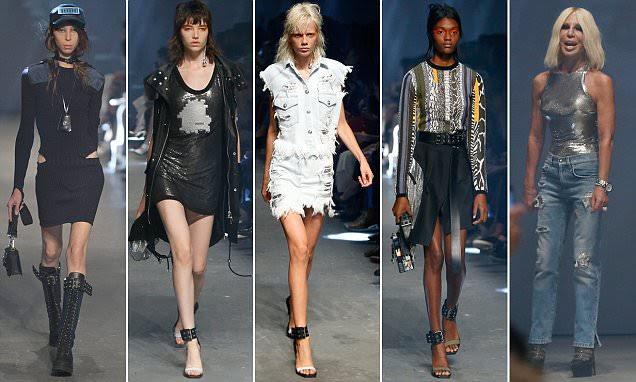 London Fashion Week Versace mostra vê modelos muito magras