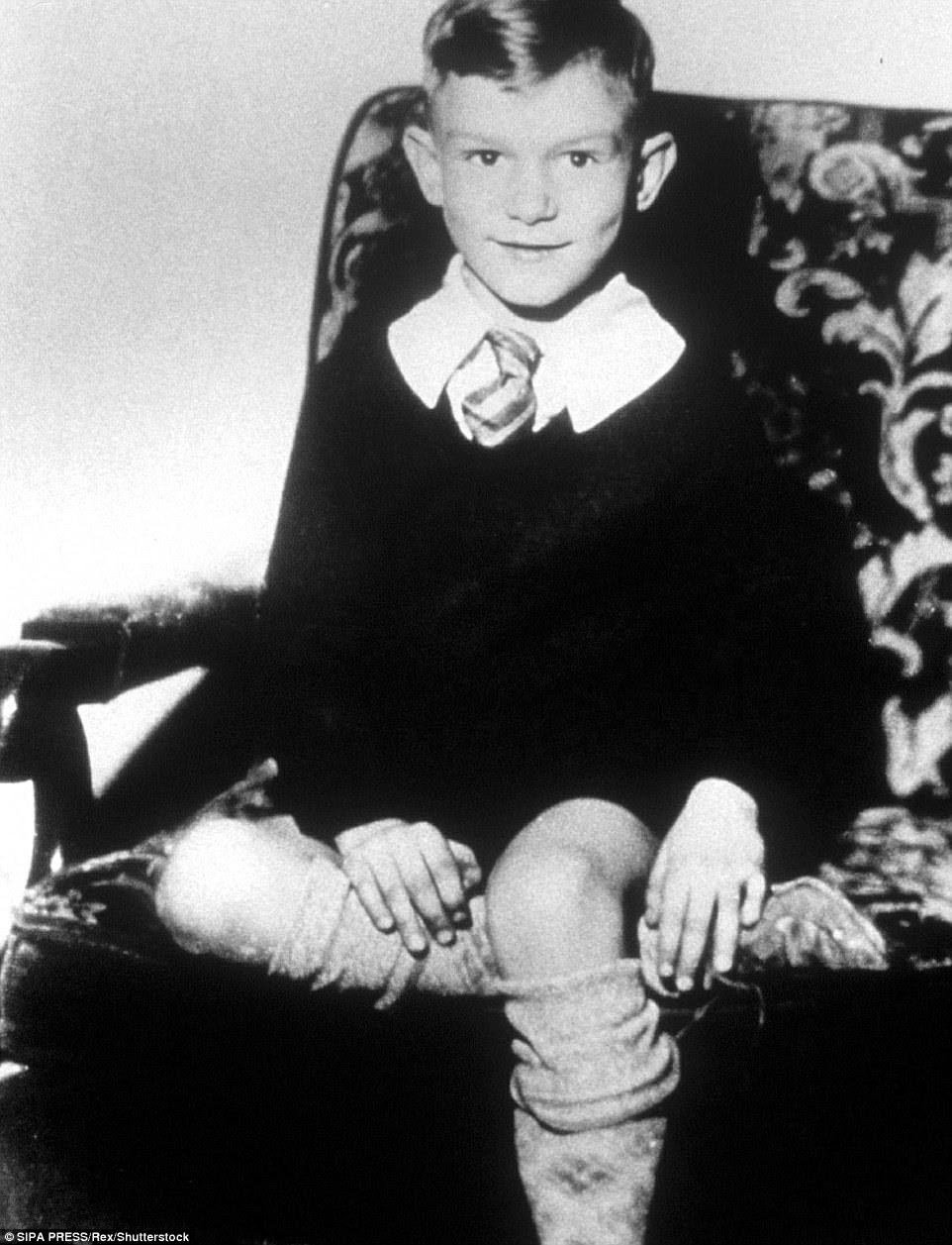 Hefner grew up in Chicago, Illinois, in a prohibitionist household with two Methodist parents who he said never showed affection towards one another. He is pictured as a young boy some time in the late 1920s, early 1930s