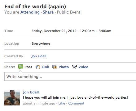 Facebook public event