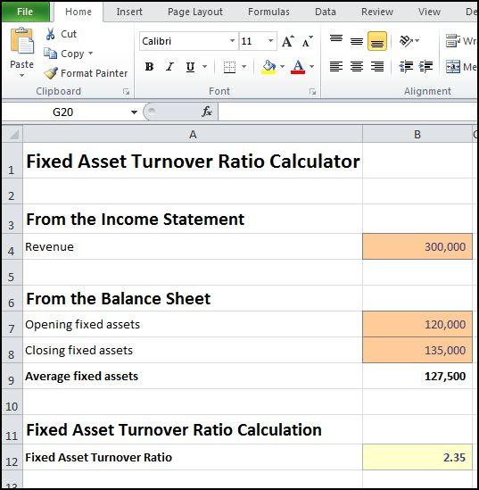 fixed asset turnover ratio calculator v 1